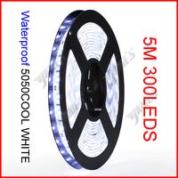 ( 60 reel/lot ) 5M/Reel 12V 5630 Cool White Color SMD Waterproof Flexible LED Strip Lights 300 LEDs 60 LEDs/M Wholesale