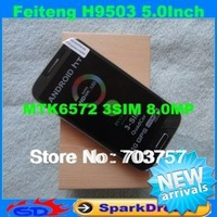 HTM FeiTeng H9503 Phone With MTK6572 Dual Core Android 4.2 Triple SIM 3G GPS 8.0MP 5.0 inch Screen Smart Phone