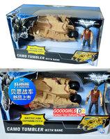 "Free Shipping Batman Vehicle The Dark Knight Toy Yellow Car Toys Batman Tumbler with 3.75"" Batman figure X5809"