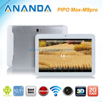 Original PIPO M9 Pro 3G RK3188 Quad core 1.6GHz 10.1 Inch IPS 2GB 32GB Dual Camare HDMI Bluetooth Tablet Pc