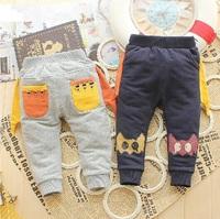 Retail 1 Pcs Baby Pants Spring Autumn New 2014 Children Pants Boy Cartoon Casual Long Pants Kids Pants High CC0636