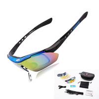 WOLFBIKE Professional  Cycling Bicycle MTB Mountain Bike Fishing Sports  Eyewear Goggle Sunglasses 5 Lens Polarized Replaceable