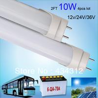 Free ship 2FT 0.6m 600mm 4pcs lot DC 12V 24V 10W T8 LED Tube  900LM