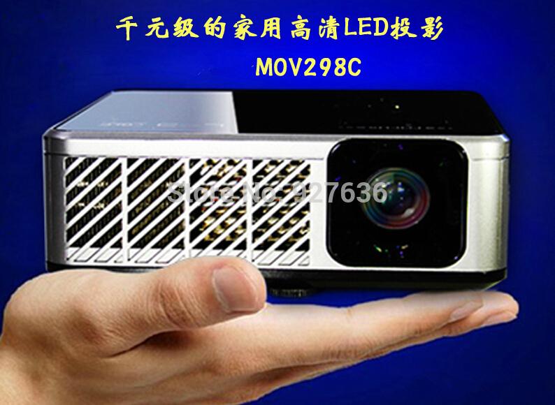 Versandkostenfrei niedrigen preis mini-projektor heimkino-projektor dlp 2800 lumen für heimkino hohe helligkeit, tragbare Größe