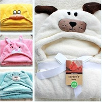 Free shipping new 2013 autumn-summer cute animals Baby  coral fleece blanket Bathrobe  Kids Bath Robe
