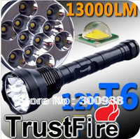 12 CREE XML T6 LED 13000 Lumen Trustfire Flashlight 5 Modes Memory Function High Power Torch by 3* 26650/18650 Battery