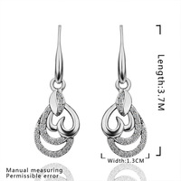 New Arrival Engagement Earring 18K Gold Plated Women Earrings Made With Genuine SWA Elements Austrian Crystal Jewelry SMTPE412