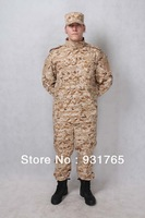 Desert digital camo--  Camouflage suit sets Army Military uniform combat Airsoft uniform -Only jacket & pants