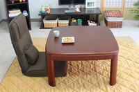Freeshipping  japanese furniture Kotatsu low round corner walnut color square 80cm heated table