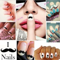 fashion nail stickers 3D nail tatoo DIY beard nail accessory free shipping wholesale NEW 500pcs/lot