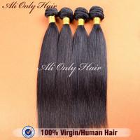 "7A Unprocessed Brazilian Virgin Hair Straight 3Pcs/Lot,Cheap Brazilian Straight Hair Mix 8""-30"",Tangle Free Human Hair Extension"