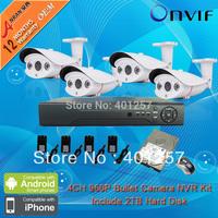 8CH H.264 HD Network NVR Kits 1.3 MegaPixel HD 960P 2Array IR Outdoor CCTV Network IP Camera System
