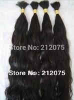 "12""-26""inches 3pieces/90grams/lot Mix Length Bulk Brazilian Virgin Curly wavy human hair extension"