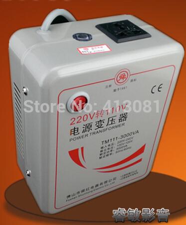Red voltage converter 220v to 110v or 110V to 220V transformer 3000w appliances Power converter Toroidal Transformer(China (Mainland))