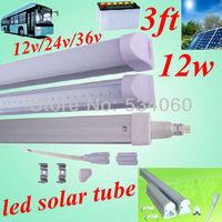 free shiping 4pcs/lot T5 led  tube 12w 900-1100lm led solar tube 3ft light bulb 12v /24v/36v  900mm led tube lamp