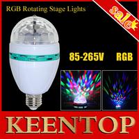 1Pcs/Lot E27 6W RGB LED Mini Light Dance Party LED Lamp Auto Rotating Chrismas Light E27 Colorful Bulb DJ  Disco Stage Light