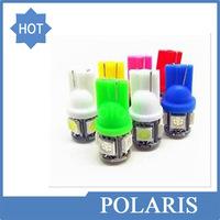 wholesale 100pcs car LED Lamp T10 5SMD 5 SMD 5LED WHITE LAMP W5W 194 5050 SMD 5 LED White Light Bulbs