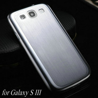 Luxury Thin Aluminum Case For Samsung Galaxy S3 i9300 Brushed Style & Mesh Style Metal Hard Titanium Free Screen Protector