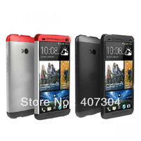 New 3 in 1 Case For HTC One M7 Double Dip Hard Shell Case Cover Grey/Red-HC C840 1pcs/lot Free Shipping