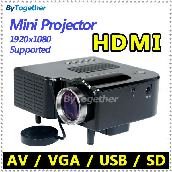 Cheap Mini Projector LED lamp portable projector with HDMI USB SD VGA AV handheld for TV PC laptop phone home theater multimedia(China (Mainland))