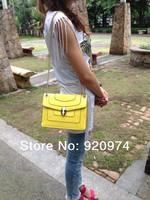 Chain bag small bags single shoulder bag yellow magnetic buckle messenger bag Pink women's rose handbag genuine leather cowhide