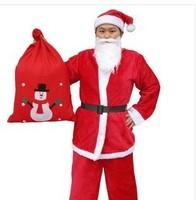 Men's clothing factory outlets Christmas Santa Claus dress clothes Christmas clothes suit 5 sets