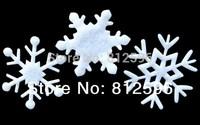 Free Shipping 100pcs 35mm 2015 New Winter Holiday Supplies Christmas White Felt Snowflake Wedding Birthday Party Decoration Kids