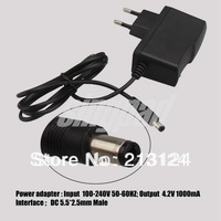 AC 100-240V 50-60HZ /DC 4.2V 1000mA Charger Adapter Supply Wall Home Office EU