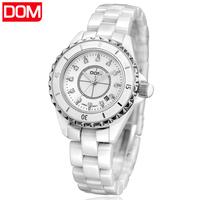 brand watch women     Dom  dress  ladies ceramic     calendar casual quartz  dress watches women wristwatches relogio feminino