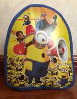 Free Shipping Quality Cute  Despicable Me Minion  Backpack Children's school bag for baby preschool Kid Boys Cartoon Bag