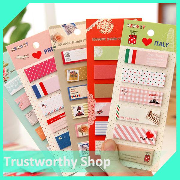 2014 rilakkuma cartoon post it stationery 4 style sticky notes self adhesive memo pad retail(China (Mainland))