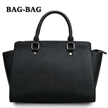 2015 NEW Brand Designer Women Genuine leather shoulder Saffiano leather Handbag tote bag REAL cowhide Fashion Trends girl R149