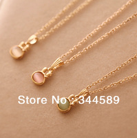 P2271 Free shipping minimum order $10(mixed items) cute Rabbit fashion alloy opal crystal pendant necklace Gold plating for lady