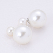 Panpiemras paragraph double faced pearl stud earring female double faced earrings accessories