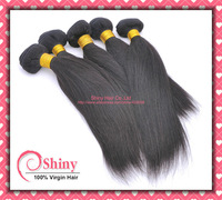 4pcs/lot Unprocessed Malaysian Virgin Hair Straight 6A Grade Human Hair Weave, No Shedding No Tangle Natural Color Can be Dyed