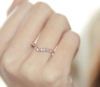 0883 Free shipping min. order $10 (mix order) delicate unique shape-V tail ring wedding band for women