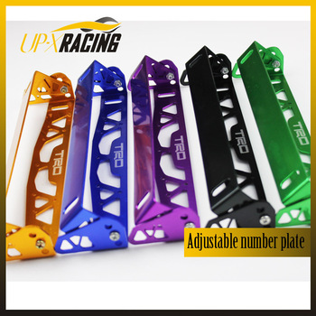 car universal aluminum trd style adjustable rotating number plate auto License plate frame license plate holder