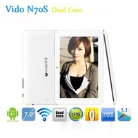 7'' inch IPS Vido N70 RK3026 Dual Core Android4.1 Tablet PC 1024x600px Capacitive screen 512MB Ram 8GB Webcams HDMI Wifi