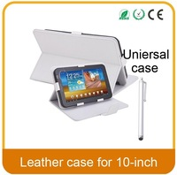 "PU Leather Case Cover for 10"" Tablet PC MID 10inch Tablet Stand Case tablet universal case +Pen"
