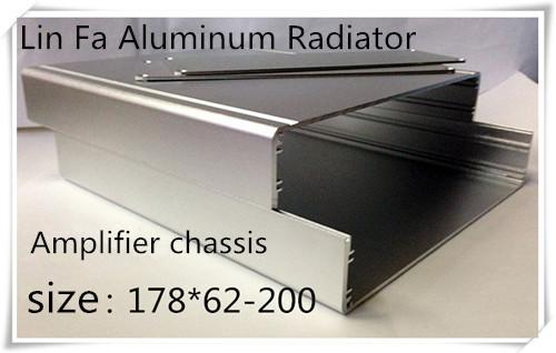 2 pcs HTPC Chassis/ Aluminum radiator Split type aluminum case large computer case aluminum case 200*178*62.(China (Mainland))