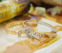 P1028 Free shipping fashion hollow crystal letter Bangle fashion jewlery Bracelet  for women