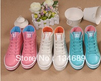 waterproof platform fashion  Rivet neon  For womens sneakers new 2013 shoes women casual discount online sapatos chaussure femme