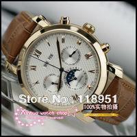 New Roman scale phase dual calendar multi-function movement sapphire belt belt luxury Swiss brand men's watch