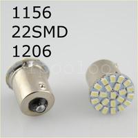 HotSale,100pcs/lot ,Car led lamp 1156/BA15S/1157/BAY15D 22 LEDS 22SMD Leds light 3020/1206 SMD turn signal reverse light