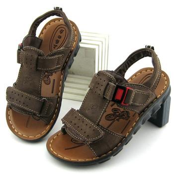 Воин марка 2014 лето мальчики полный зерна из натуральной кожи сандалии детская обувь сандалии дети sandalias мальчики обувь