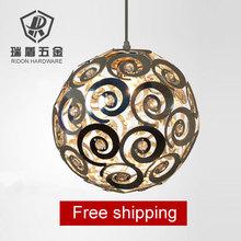 Free shipping!! Aluminium lighting fitting Living room modern brief bedroom lights crystal pendant light 110V 220V 20cm e27(China (Mainland))