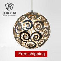 Free shipping!! Aluminium lighting fitting Living room modern brief bedroom lights crystal pendant  light  110V 220V 20cm e27
