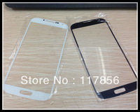 For samsung Galaxy S4 i9500 front glass lens Outer Digitizer screen Cover Replacement Repair Parts black white blue DHL ship