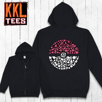 2014 KKL Unique Designer Brand Graphic Printing Zip College Hoodies And Sweatshirt For Men Women Free Shipping Pokemon Pikachu