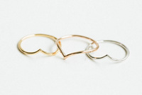Gold/Silver V-Shape Thin Band Womens Above Knuckle Midi vintage Ring fashion jewelry